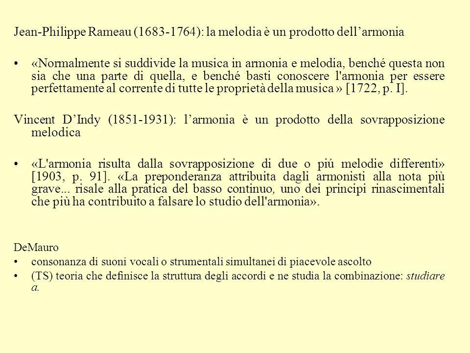 Jean-Philippe Rameau (1683-1764): la melodia è un prodotto dell'armonia