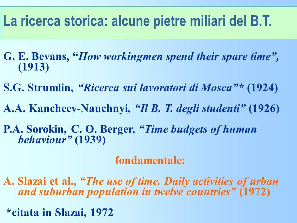 La ricerca storica: alcune pietre miliari del B.T.