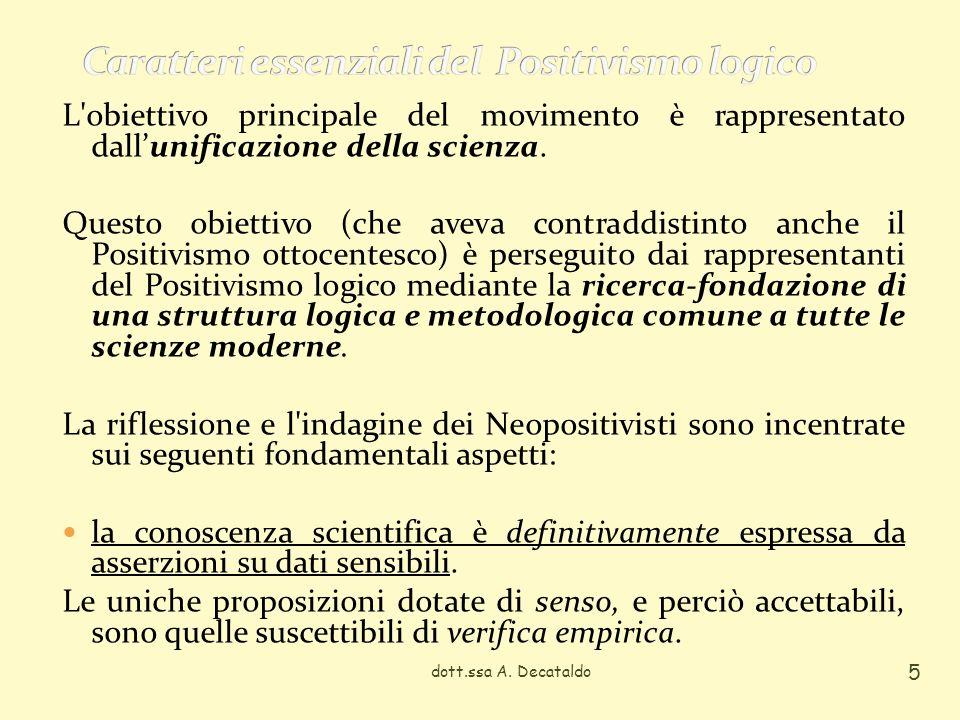 Caratteri essenziali del Positivismo logico
