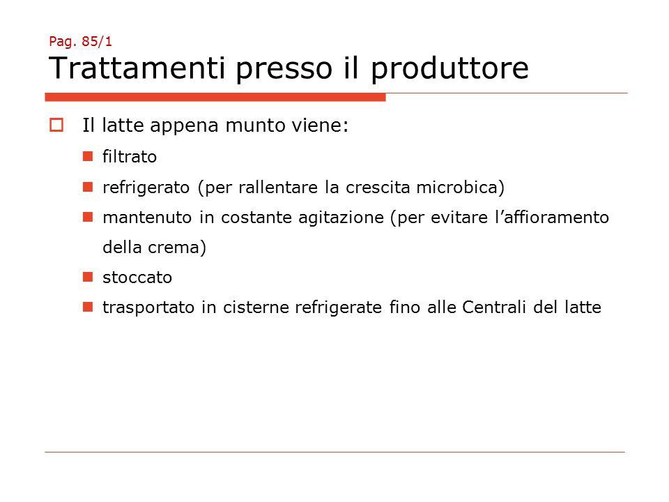 Pag. 85/1 Trattamenti presso il produttore
