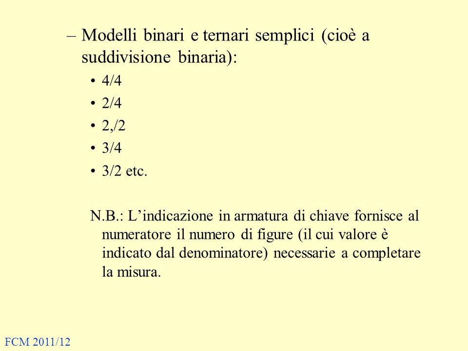Modelli binari e ternari semplici (cioè a suddivisione binaria):