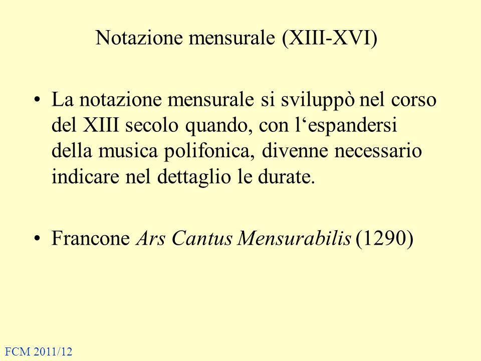 Notazione mensurale (XIII-XVI)