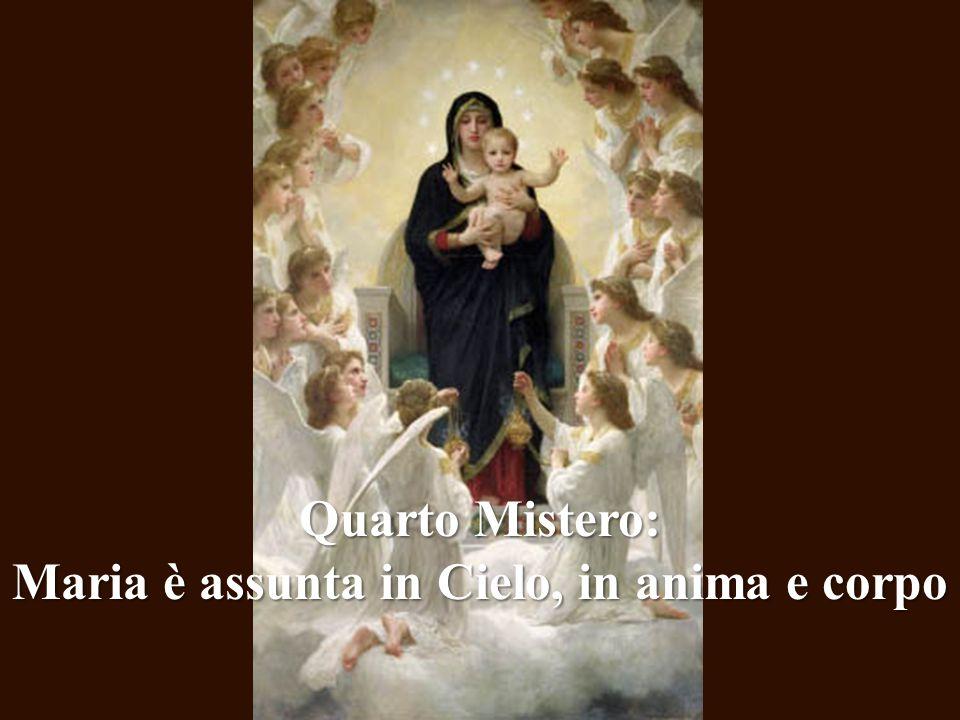 Maria è assunta in Cielo, in anima e corpo