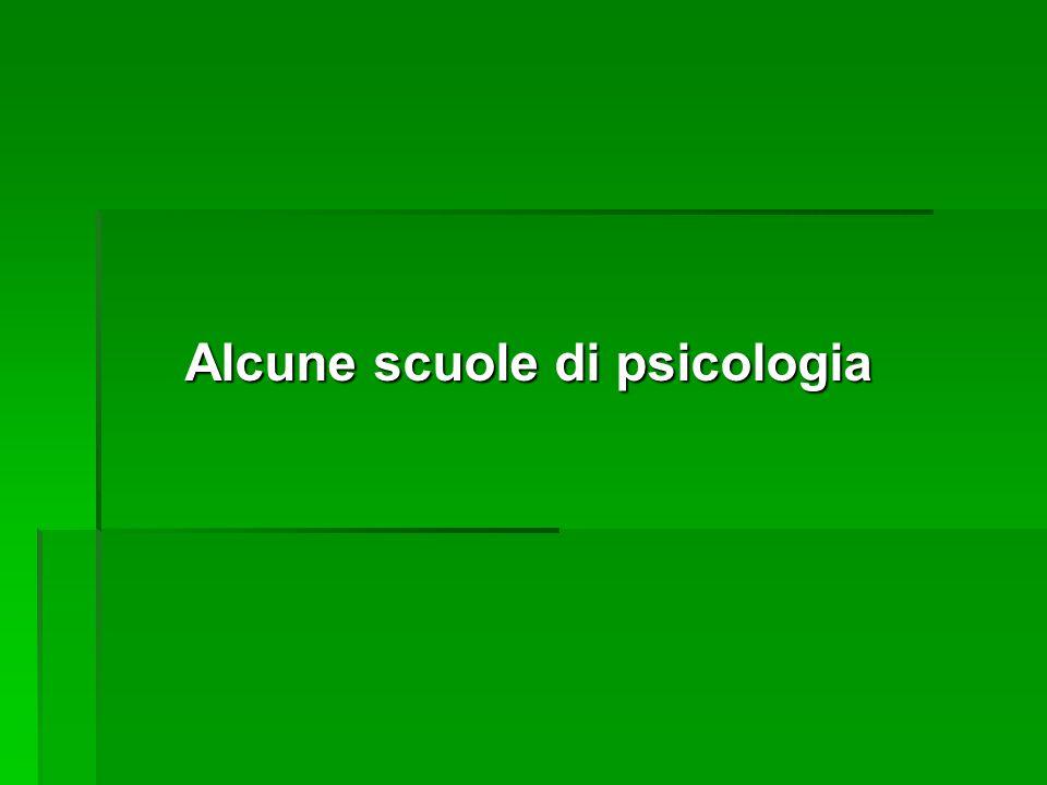 Alcune scuole di psicologia