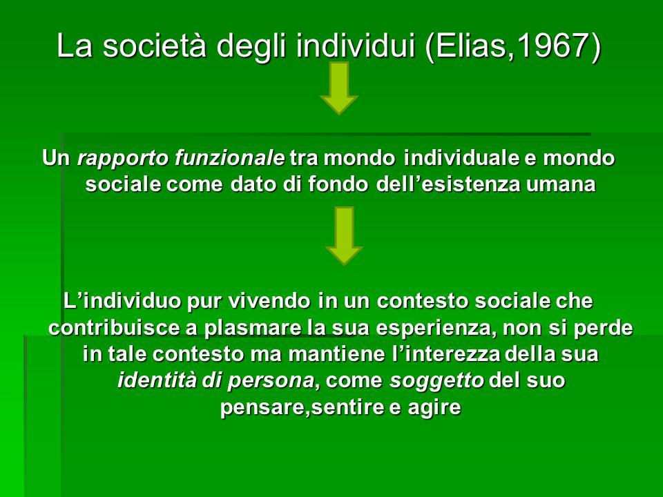 La società degli individui (Elias,1967)