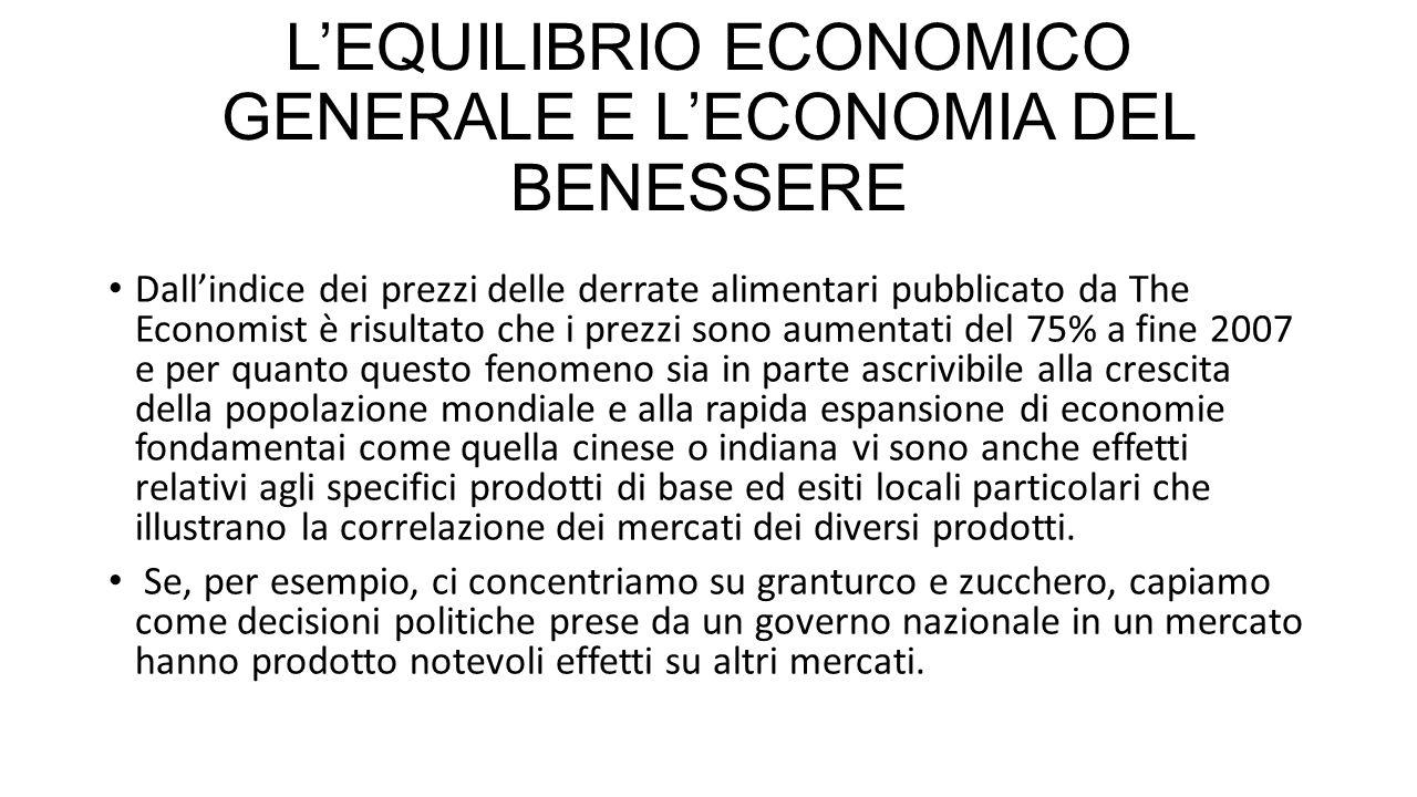 L'EQUILIBRIO ECONOMICO GENERALE E L'ECONOMIA DEL BENESSERE
