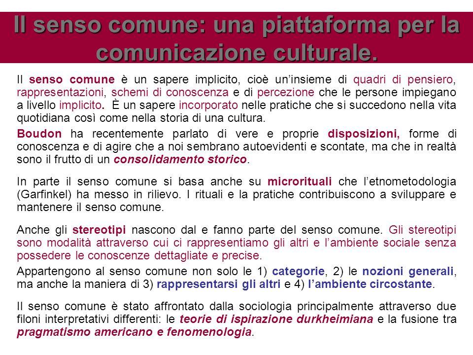 Il senso comune: una piattaforma per la comunicazione culturale.