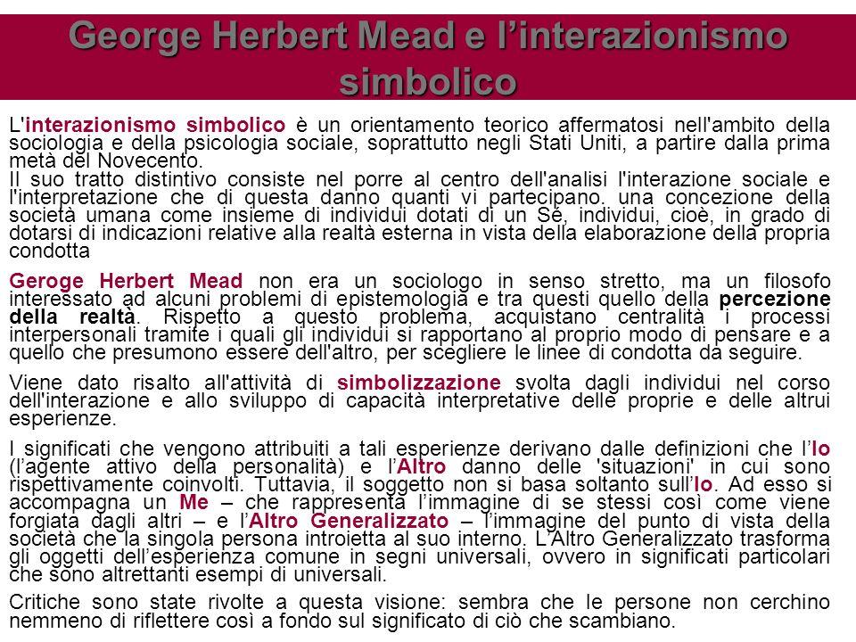 George Herbert Mead e l'interazionismo simbolico