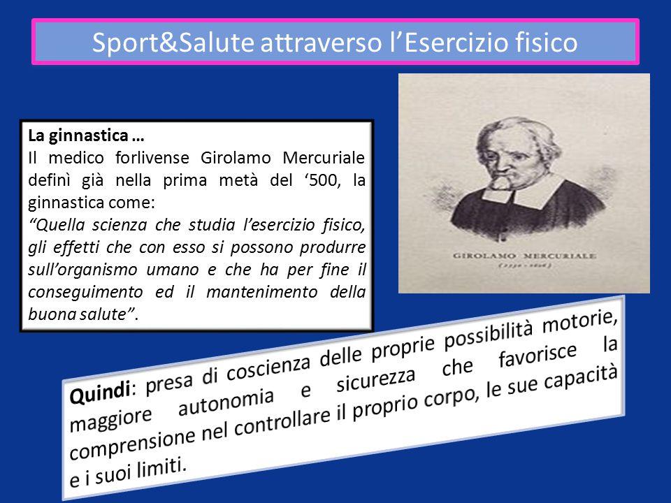 Sport&Salute attraverso l'Esercizio fisico