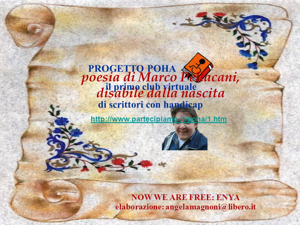 poesia di Marco Pellacani, disabile dalla nascita