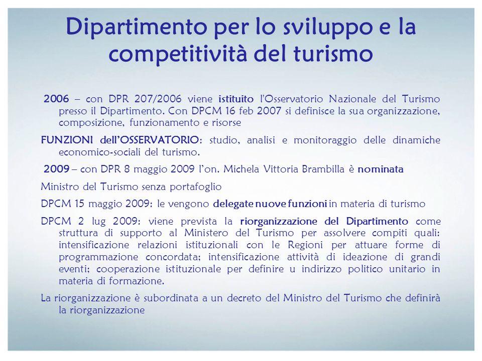 Dipartimento per lo sviluppo e la competitività del turismo