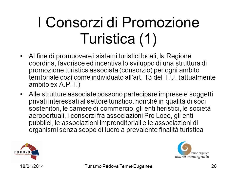 I Consorzi di Promozione Turistica (1)