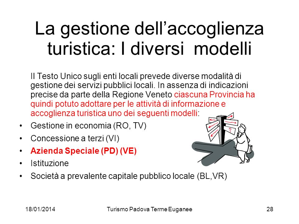 La gestione dell'accoglienza turistica: I diversi modelli