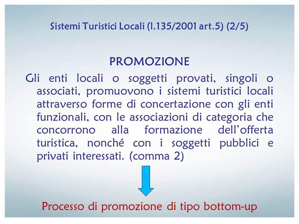 Sistemi Turistici Locali (l.135/2001 art.5) (2/5)