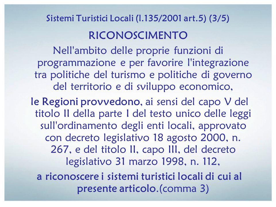 Sistemi Turistici Locali (l.135/2001 art.5) (3/5)
