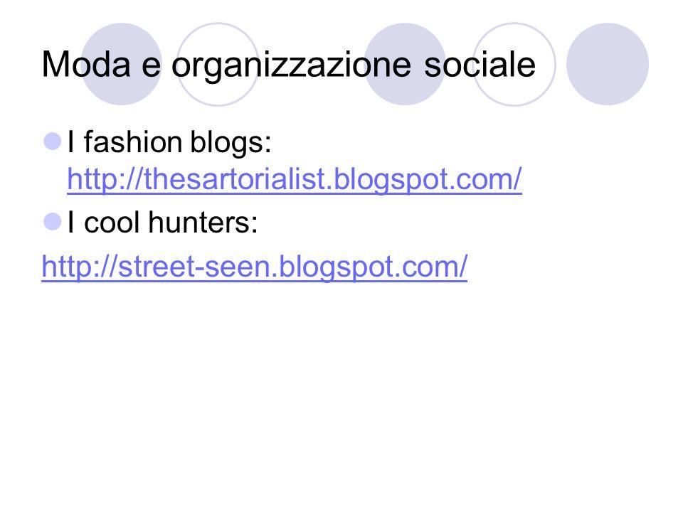 Moda e organizzazione sociale