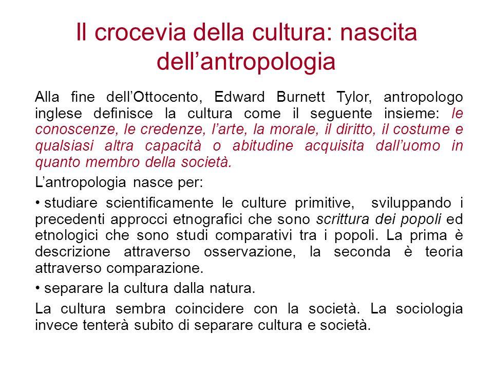 Il crocevia della cultura: nascita dell'antropologia