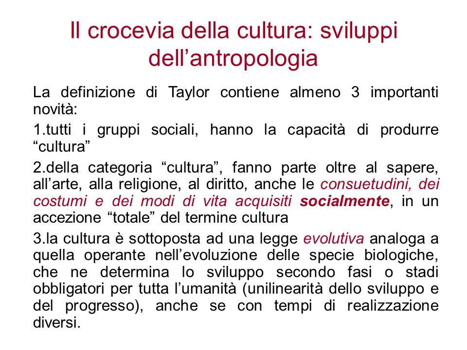 Il crocevia della cultura: sviluppi dell'antropologia
