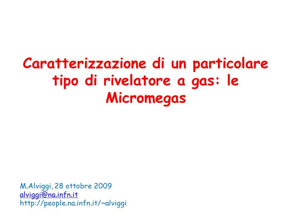 Caratterizzazione di un particolare tipo di rivelatore a gas: le Micromegas