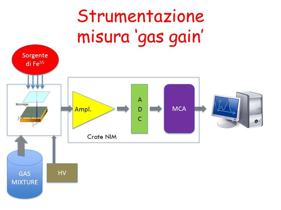 Strumentazione misura 'gas gain'