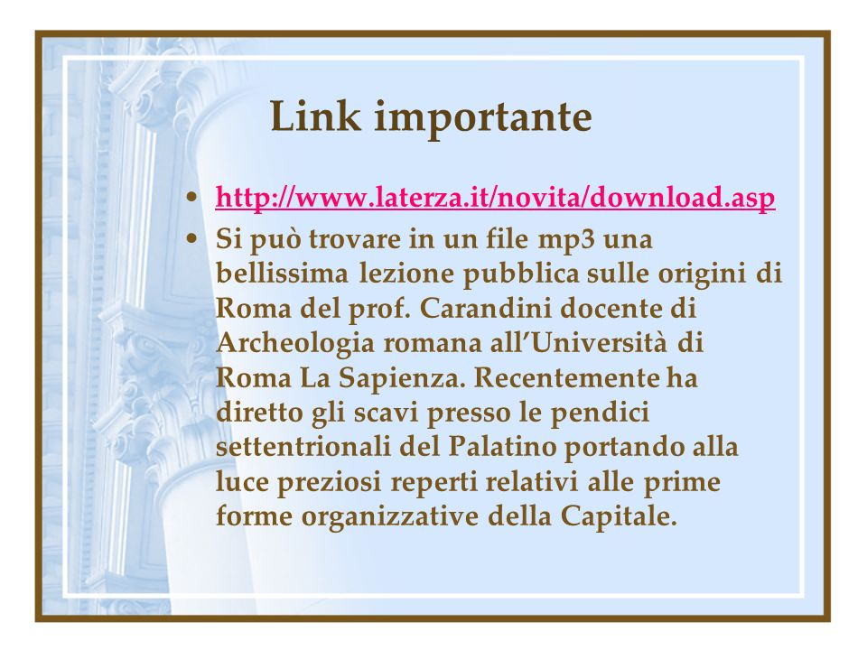 Link importante http://www.laterza.it/novita/download.asp