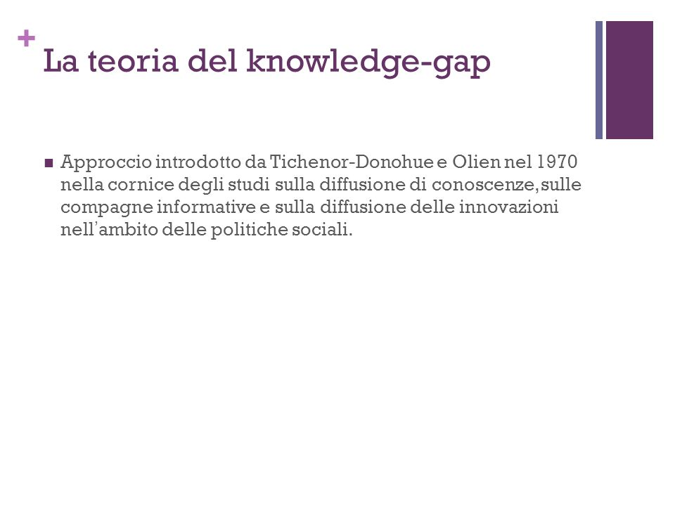 La teoria del knowledge-gap