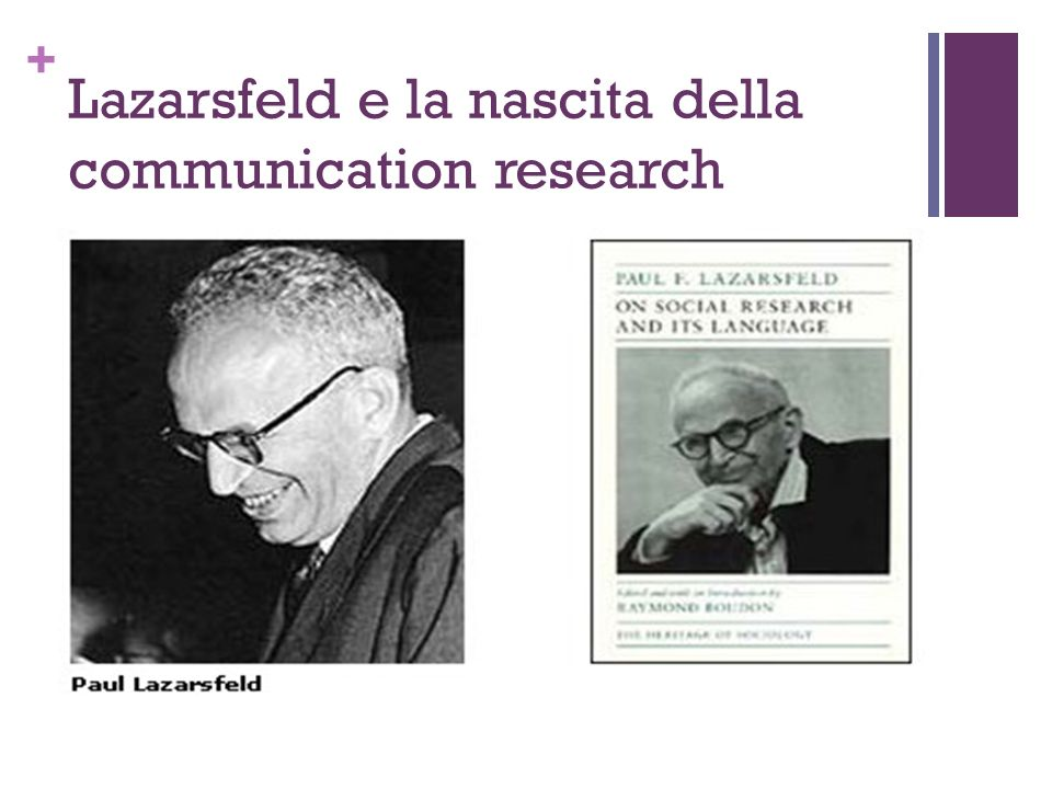 Lazarsfeld e la nascita della communication research