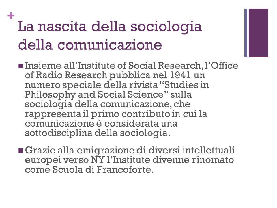 La nascita della sociologia della comunicazione
