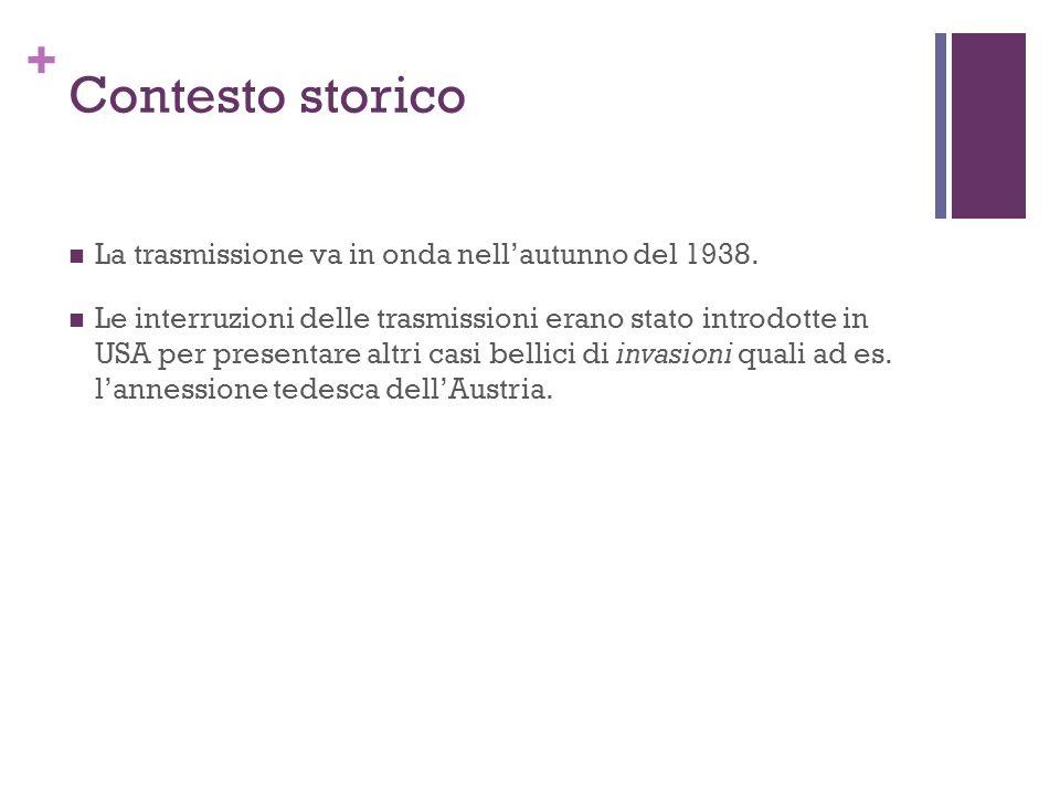 Contesto storico La trasmissione va in onda nell'autunno del 1938.