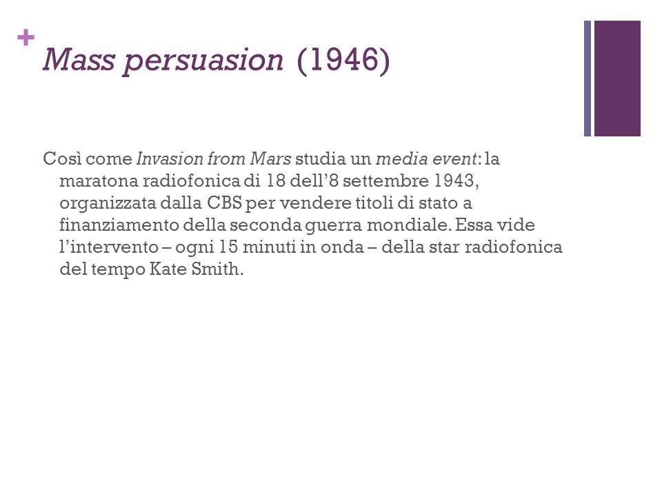 Mass persuasion (1946)
