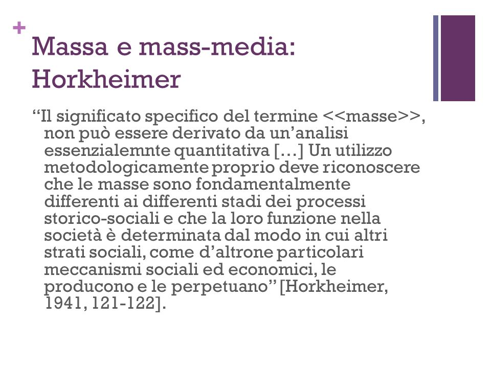 Massa e mass-media: Horkheimer