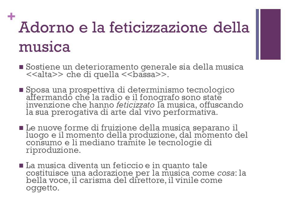 Adorno e la feticizzazione della musica