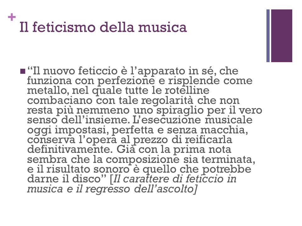 Il feticismo della musica