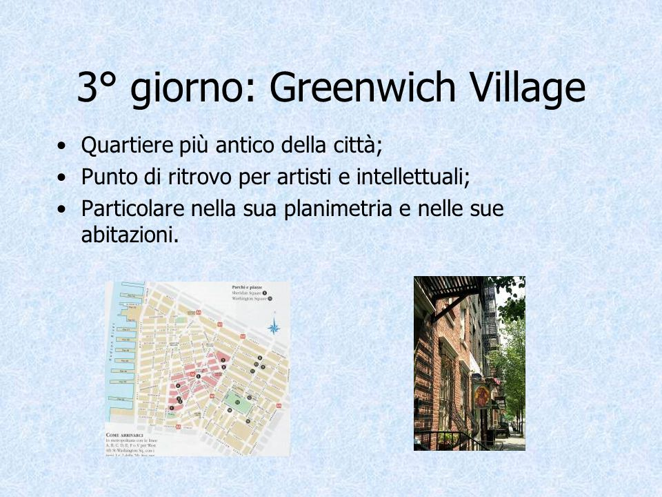 3° giorno: Greenwich Village