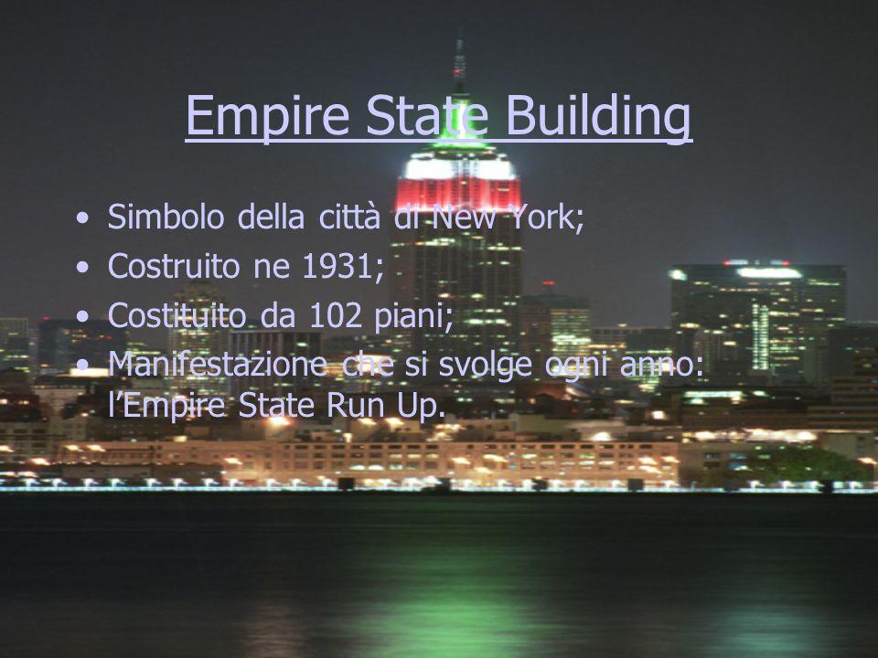 Empire State Building Simbolo della città di New York;