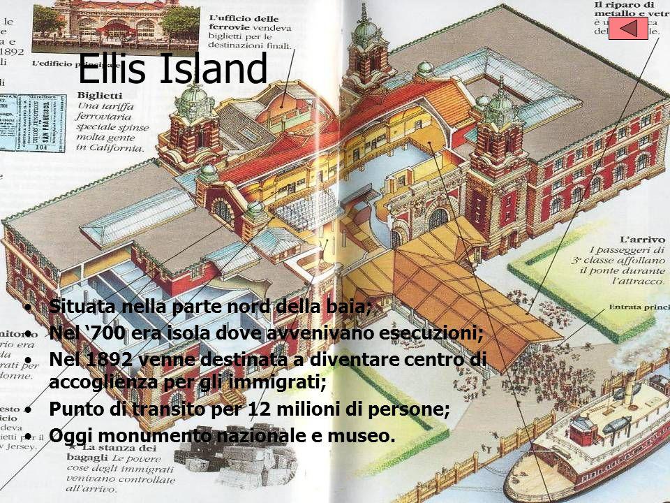 Ellis Island Situata nella parte nord della baia;