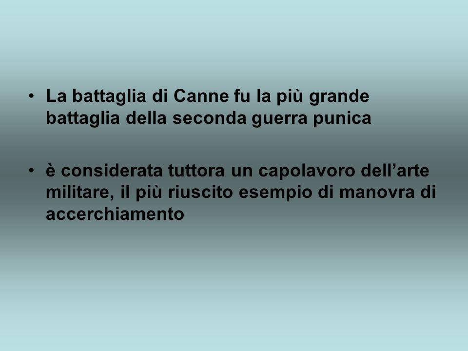 La battaglia di Canne fu la più grande battaglia della seconda guerra punica