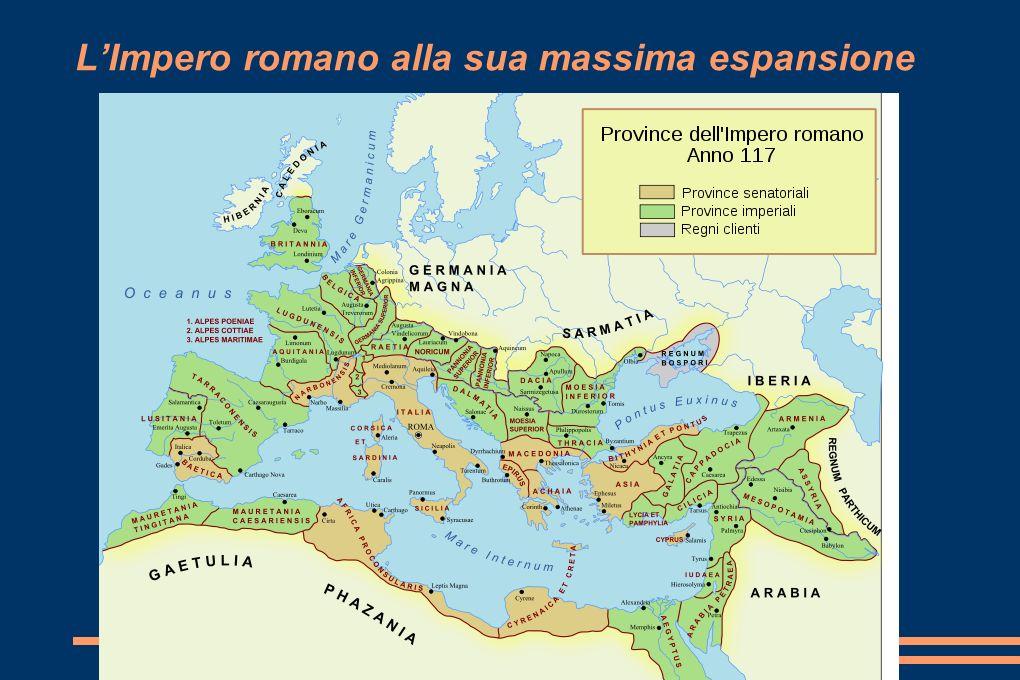 L'Impero romano alla sua massima espansione