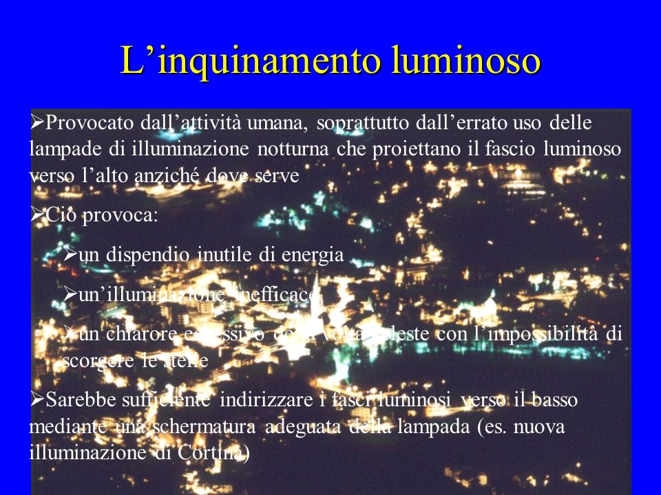 L'inquinamento luminoso