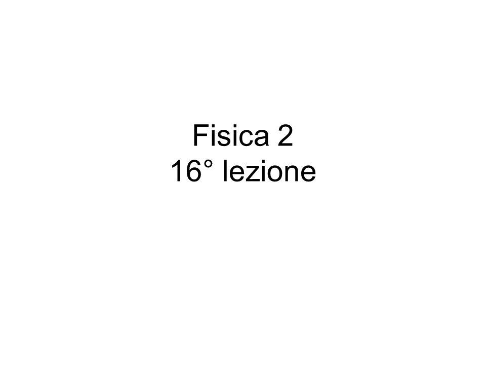 Fisica 2 16° lezione