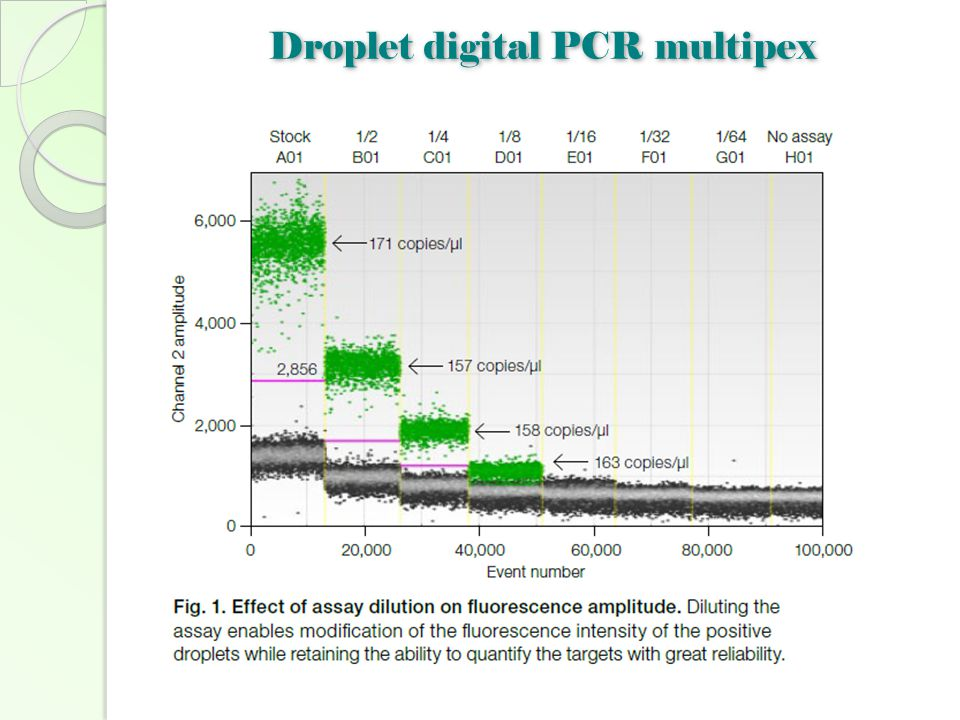 Droplet digital PCR multipex