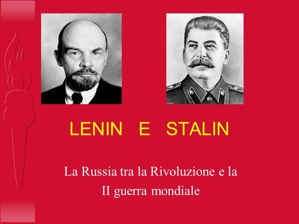 La Russia tra la Rivoluzione e la II guerra mondiale
