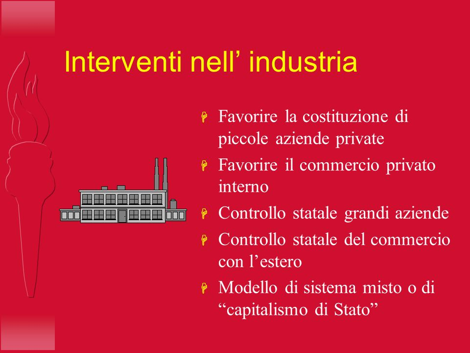 Interventi nell' industria