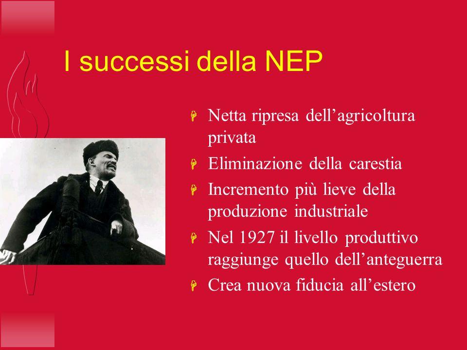 I successi della NEP Netta ripresa dell'agricoltura privata