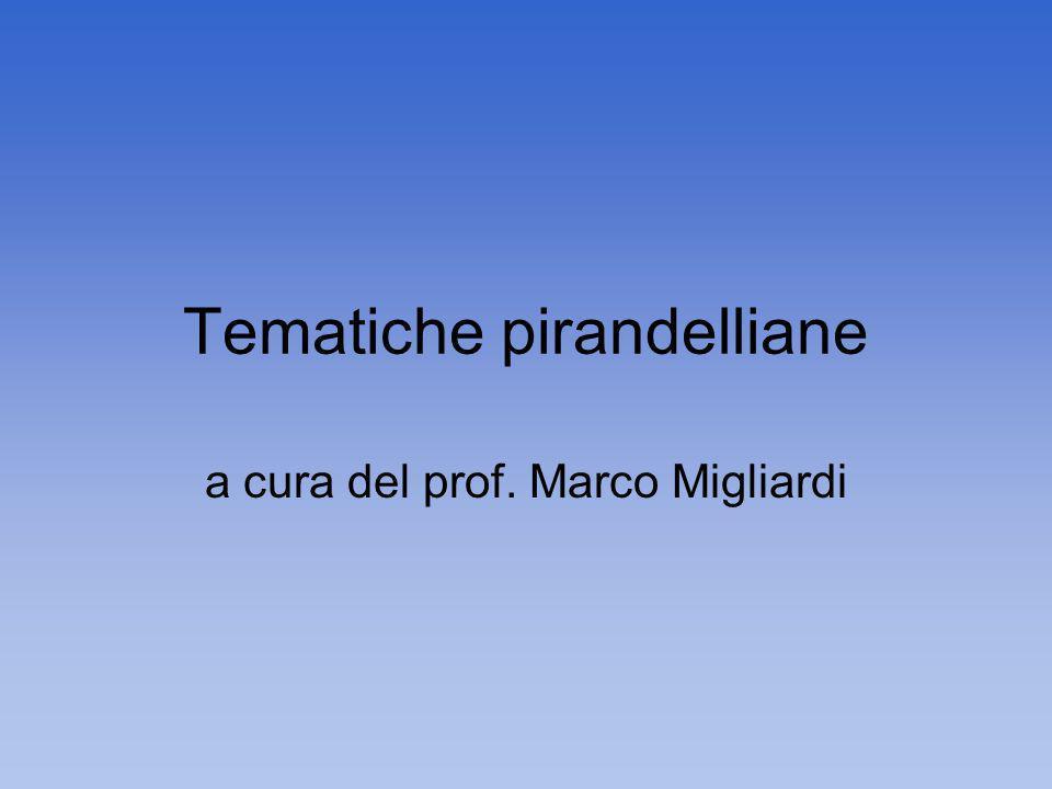 Tematiche pirandelliane