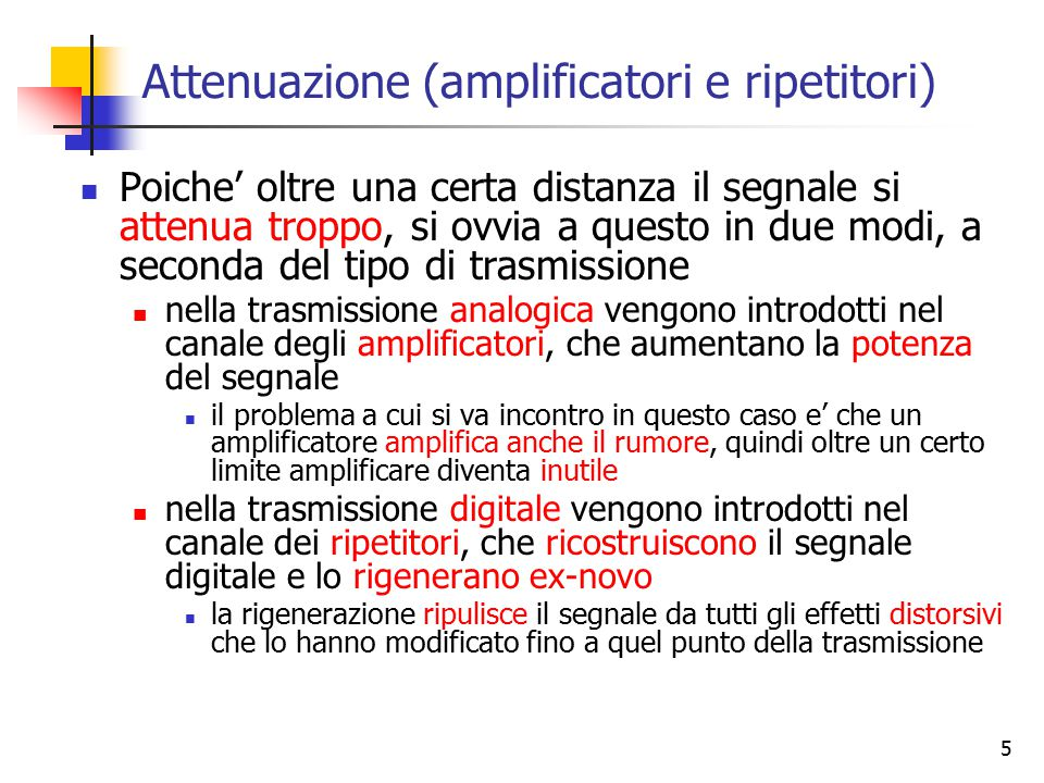 Attenuazione (amplificatori e ripetitori)