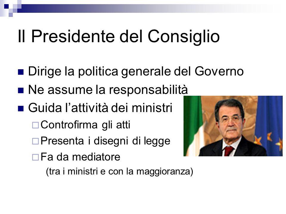 Il Presidente del Consiglio