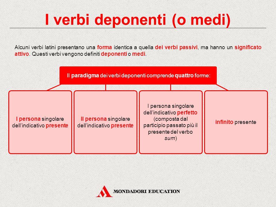 I verbi deponenti (o medi)