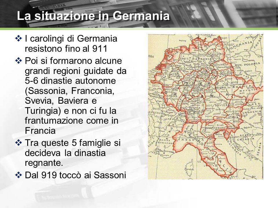 La situazione in Germania