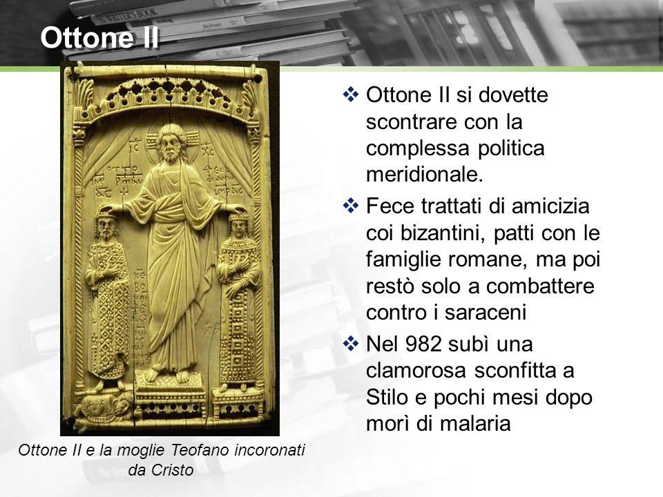 Ottone II e la moglie Teofano incoronati da Cristo